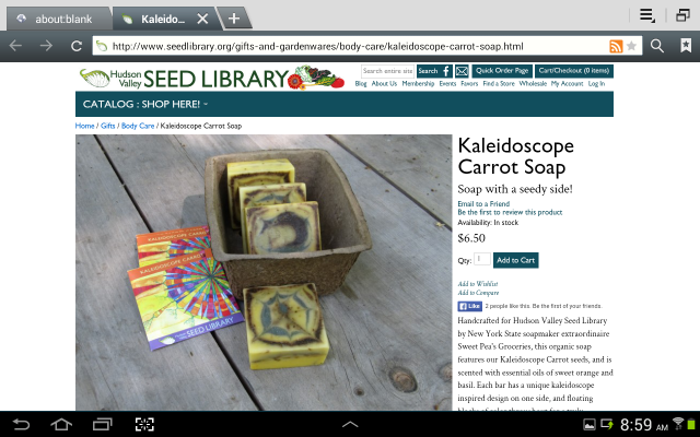 Hudson Valley Seed Library soap