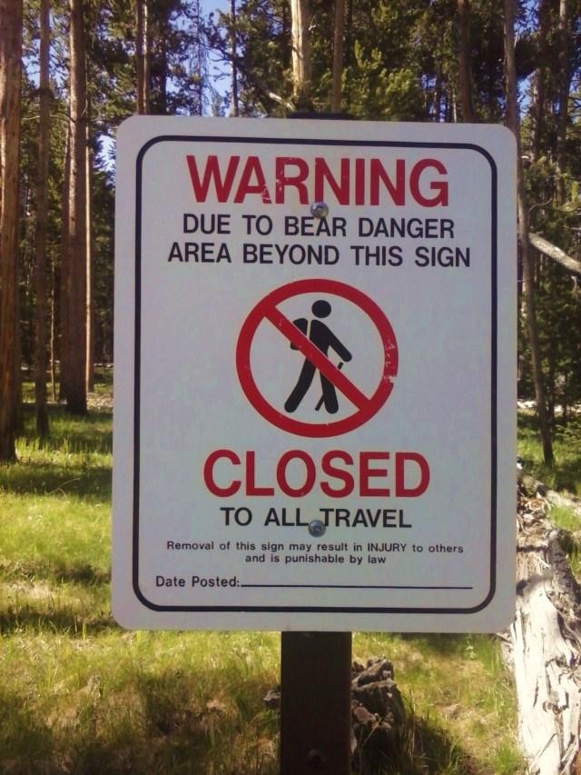 bear closing