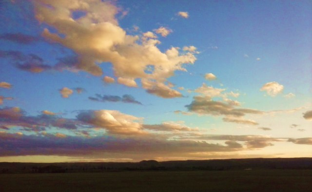 Big sky country.