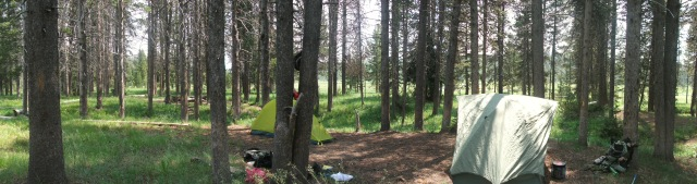 Campsite at Grizzly Lakes Winter Creek